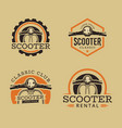 set classic scooter emblems vector image