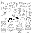 set of party elements vector image