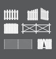 silhouettes various types fence gate of vector image vector image
