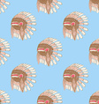 Sketch native americans hat in vintage style vector image