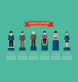 social issue equality concept infographic vector image vector image