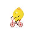 sported lemon on white vector image vector image