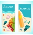 summer vecetion time background concept vector image vector image