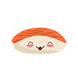 sushi cute kawaii japan food character vector image
