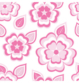 texture seamless pattern with sakura and leaf vector image