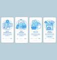 translation service process blue onboarding vector image vector image