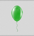 transparent green helium balloon vector image
