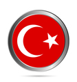 Turkey flag button vector image vector image