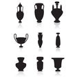 Vases bottles and urns vector image