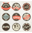 vintage design retro labels vector image vector image
