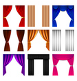Window curtain icons set vector image vector image