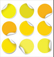 yellow stickers collection vector image vector image