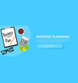 business planning banner vector image