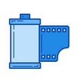 film cartridge line icon vector image
