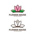 Flower House Logo vector image