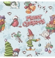 Seamless texture to the Christmas and New Year vector image