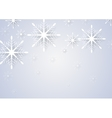 Abstract snowflakes New Year greeting card vector image vector image