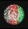 afghanistan flag sparkling badge vector image
