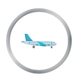 Airplane icon of for web and vector image vector image