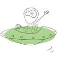 Alien in UFO vector image
