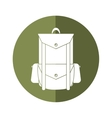 backpack travel hiking equipment camping button vector image vector image