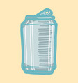 beer can icon hand drawn style vector image