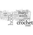 beginner crochet vector image vector image
