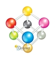 Bright collection of colorful balls vector image vector image