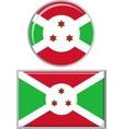Burundi round and square icon flag vector image