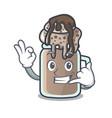 Call me milkshake mascot cartoon style