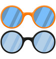 cartoon icon poster glasses spectacles black vector image