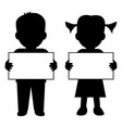 children with blank banner vector image vector image