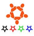 collaboration icon vector image vector image