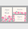 collection of elegant templates for save the date vector image vector image