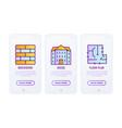 construction thin line icons set brickwork vector image