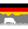 Cow alp and german flag vector image vector image