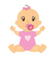 cute baby icon vector image vector image