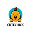 cute chick cartoon logo icon vector image