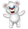 cute polar bear posing vector image vector image