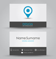 Design business card vector image vector image