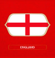 flag england is made in football style vector image vector image