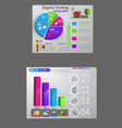 food infographic element health concept vector image