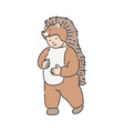 funny kid in animal suit vector image vector image