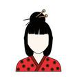 geisha japanese woman vector image