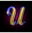 golden and blue letter u vector image vector image