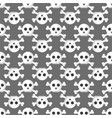grunge seamless pattern with skulls vector image vector image