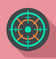 gun target icon flat style vector image vector image