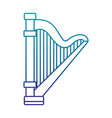 harp musical instrument isolated icon vector image vector image