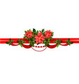 holiday floral border vector image vector image