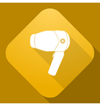 icon of Hairdryer with a long shadow vector image